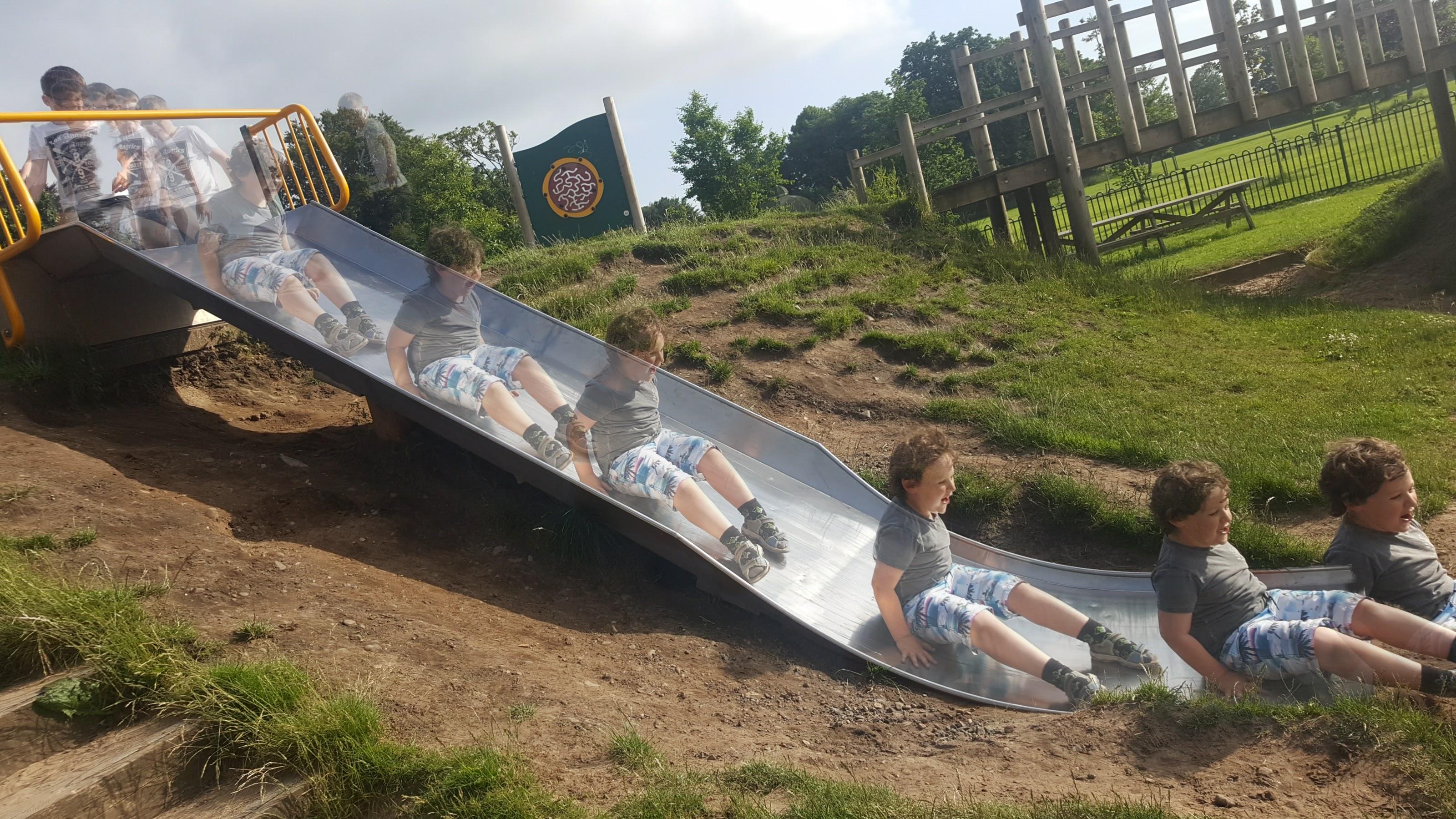 Multiple Me on the Slide